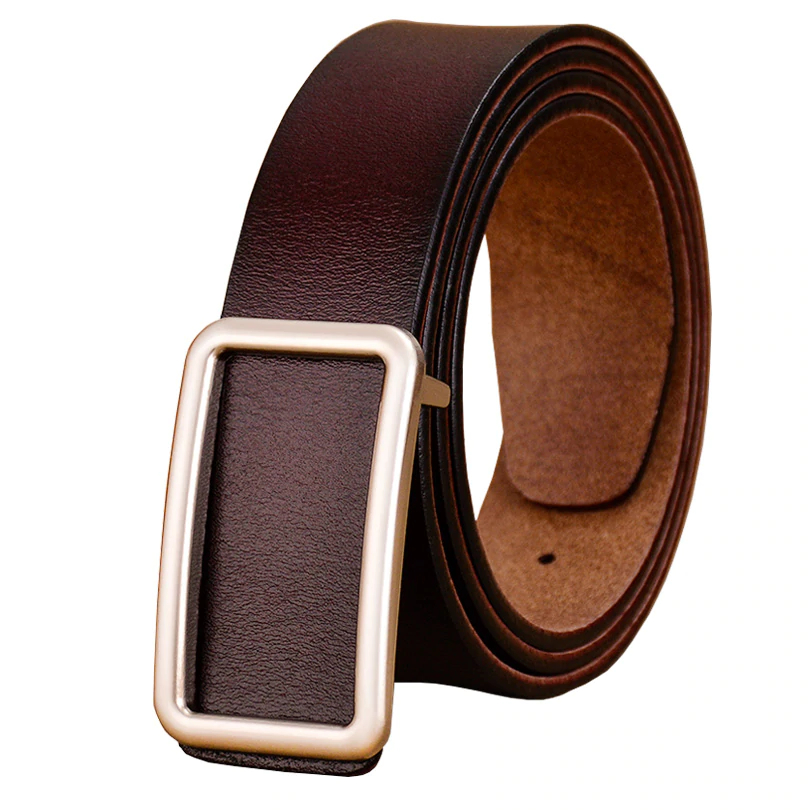 Leather Belts with Metal Buckle for Men