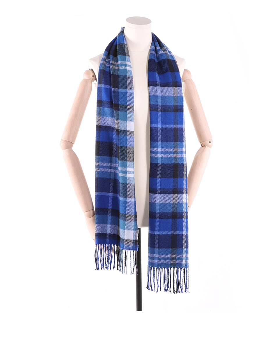 Men's Checked Cashmere Scarf