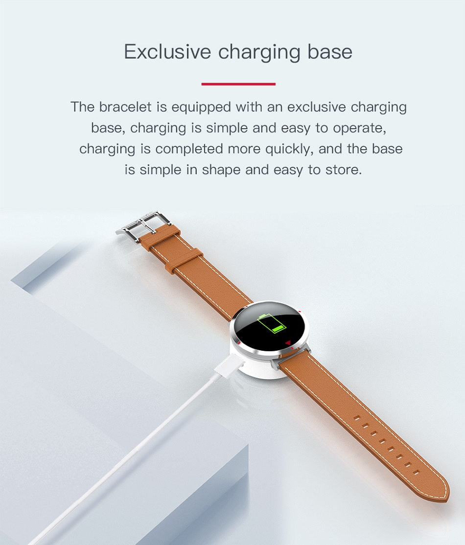 Men's Leather Strap Smart Watches
